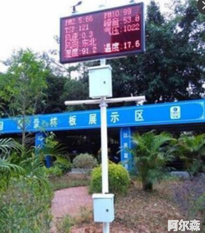 景区空气质量户外LED屏监测系统